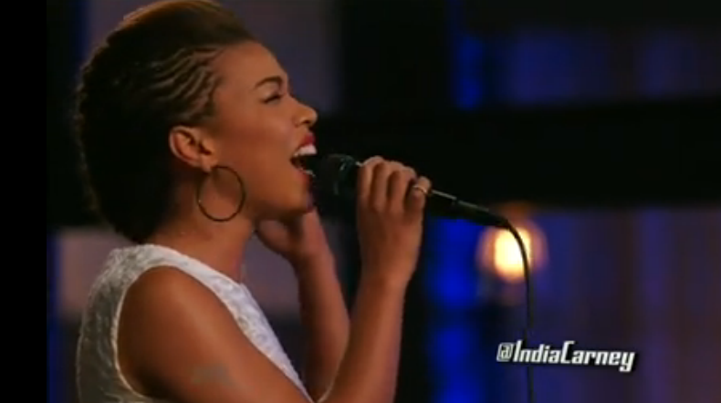 """India Carney Sings """"Lay Me Down"""" On The Voice 2015 Season"""